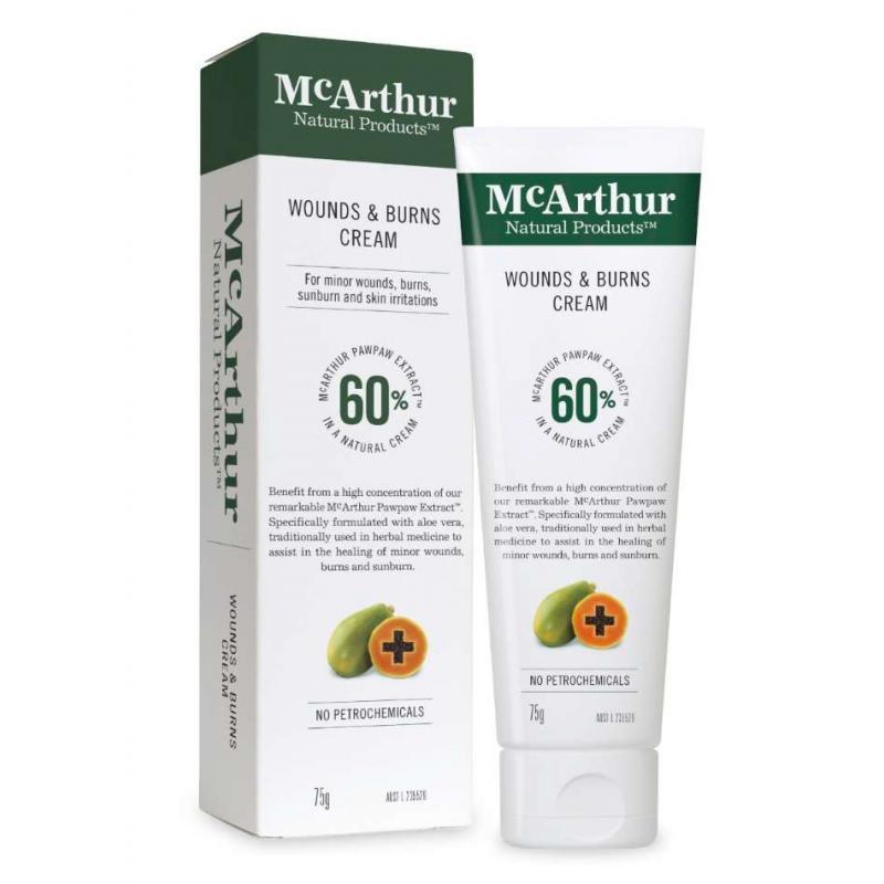 McArthur (Pawpaw Man) Wounds & Burns Cream 75g,McArthur